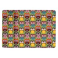 Eye Owl Colorful Cute Animals Bird Copy Samsung Galaxy Tab 10.1  P7500 Flip Case