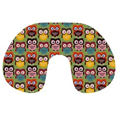 Eye Owl Colorful Cute Animals Bird Copy Travel Neck Pillows