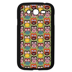 Eye Owl Colorful Cute Animals Bird Copy Samsung Galaxy Grand DUOS I9082 Case (Black)