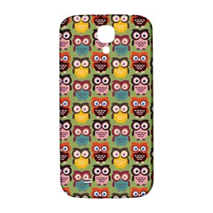 Eye Owl Colorful Cute Animals Bird Copy Samsung Galaxy S4 I9500/I9505  Hardshell Back Case