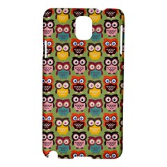 Eye Owl Colorful Cute Animals Bird Copy Samsung Galaxy Note 3 N9005 Hardshell Case
