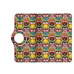 Eye Owl Colorful Cute Animals Bird Copy Kindle Fire HDX 8.9  Flip 360 Case