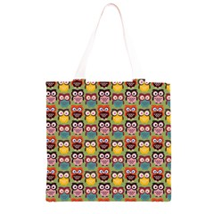 Eye Owl Colorful Cute Animals Bird Copy Grocery Light Tote Bag