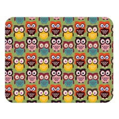 Eye Owl Colorful Cute Animals Bird Copy Double Sided Flano Blanket (Large)