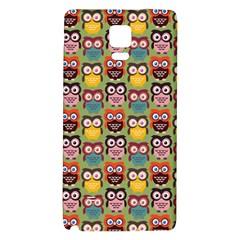 Eye Owl Colorful Cute Animals Bird Copy Galaxy Note 4 Back Case