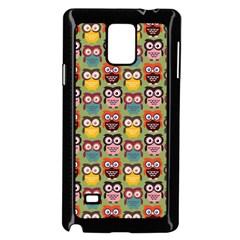 Eye Owl Colorful Cute Animals Bird Copy Samsung Galaxy Note 4 Case (Black)