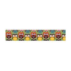 Eye Owl Colorful Cute Animals Bird Copy Flano Scarf (Mini)