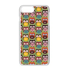 Eye Owl Colorful Cute Animals Bird Copy Apple Iphone 7 Plus White Seamless Case