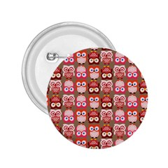 Eye Owl Colorfull Pink Orange Brown Copy 2.25  Buttons