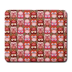 Eye Owl Colorfull Pink Orange Brown Copy Large Mousepads