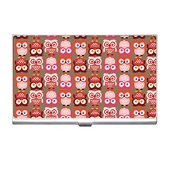 Eye Owl Colorfull Pink Orange Brown Copy Business Card Holders
