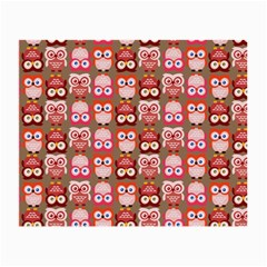 Eye Owl Colorfull Pink Orange Brown Copy Small Glasses Cloth