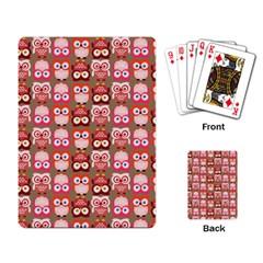Eye Owl Colorfull Pink Orange Brown Copy Playing Card