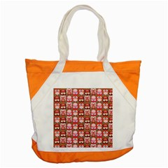 Eye Owl Colorfull Pink Orange Brown Copy Accent Tote Bag