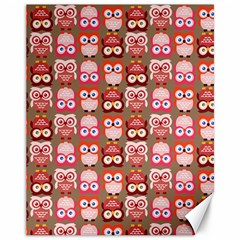 Eye Owl Colorfull Pink Orange Brown Copy Canvas 11  x 14