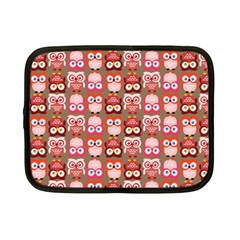 Eye Owl Colorfull Pink Orange Brown Copy Netbook Case (Small)