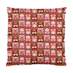 Eye Owl Colorfull Pink Orange Brown Copy Standard Cushion Case (Two Sides)