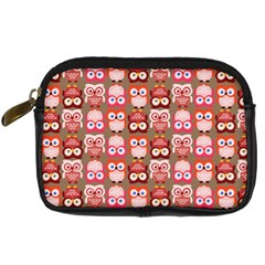 Eye Owl Colorfull Pink Orange Brown Copy Digital Camera Cases