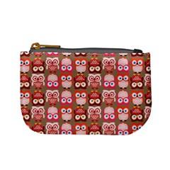 Eye Owl Colorfull Pink Orange Brown Copy Mini Coin Purses