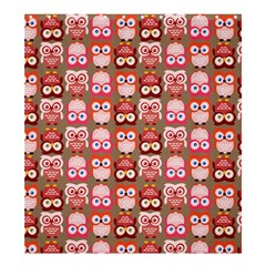 Eye Owl Colorfull Pink Orange Brown Copy Shower Curtain 66  x 72  (Large)