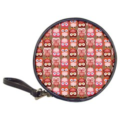 Eye Owl Colorfull Pink Orange Brown Copy Classic 20-CD Wallets