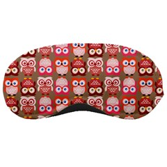 Eye Owl Colorfull Pink Orange Brown Copy Sleeping Masks