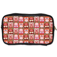 Eye Owl Colorfull Pink Orange Brown Copy Toiletries Bags 2-Side