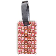 Eye Owl Colorfull Pink Orange Brown Copy Luggage Tags (Two Sides)