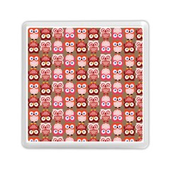 Eye Owl Colorfull Pink Orange Brown Copy Memory Card Reader (Square)
