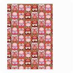 Eye Owl Colorfull Pink Orange Brown Copy Small Garden Flag (Two Sides)