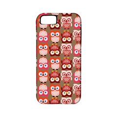 Eye Owl Colorfull Pink Orange Brown Copy Apple iPhone 5 Classic Hardshell Case (PC+Silicone)