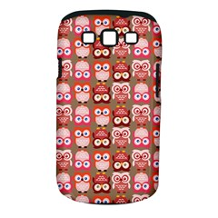 Eye Owl Colorfull Pink Orange Brown Copy Samsung Galaxy S III Classic Hardshell Case (PC+Silicone)