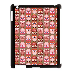 Eye Owl Colorfull Pink Orange Brown Copy Apple iPad 3/4 Case (Black)