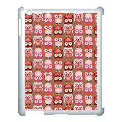 Eye Owl Colorfull Pink Orange Brown Copy Apple iPad 3/4 Case (White)