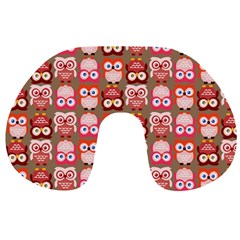 Eye Owl Colorfull Pink Orange Brown Copy Travel Neck Pillows