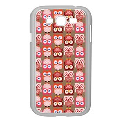 Eye Owl Colorfull Pink Orange Brown Copy Samsung Galaxy Grand DUOS I9082 Case (White)