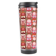 Eye Owl Colorfull Pink Orange Brown Copy Travel Tumbler