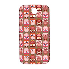 Eye Owl Colorfull Pink Orange Brown Copy Samsung Galaxy S4 I9500/I9505  Hardshell Back Case