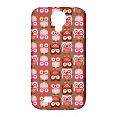 Eye Owl Colorfull Pink Orange Brown Copy Samsung Galaxy S4 Classic Hardshell Case (PC+Silicone)