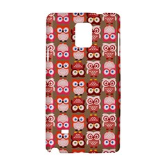 Eye Owl Colorfull Pink Orange Brown Copy Samsung Galaxy Note 4 Hardshell Case