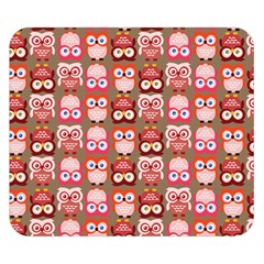 Eye Owl Colorfull Pink Orange Brown Copy Double Sided Flano Blanket (Small)
