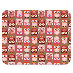 Eye Owl Colorfull Pink Orange Brown Copy Double Sided Flano Blanket (Medium)