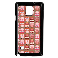 Eye Owl Colorfull Pink Orange Brown Copy Samsung Galaxy Note 4 Case (Black)