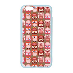 Eye Owl Colorfull Pink Orange Brown Copy Apple Seamless iPhone 6/6S Case (Color)
