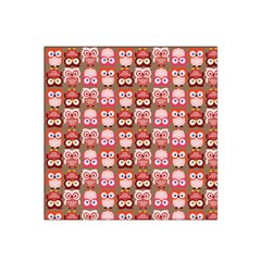 Eye Owl Colorfull Pink Orange Brown Copy Satin Bandana Scarf