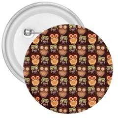 Eye Owl Line Brown Copy 3  Buttons