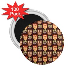 Eye Owl Line Brown Copy 2.25  Magnets (100 pack)