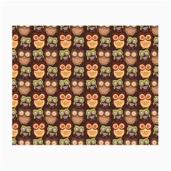 Eye Owl Line Brown Copy Small Glasses Cloth