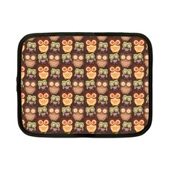 Eye Owl Line Brown Copy Netbook Case (Small)