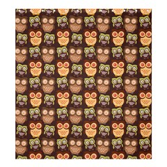 Eye Owl Line Brown Copy Shower Curtain 66  x 72  (Large)